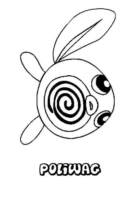 Pokemon Coloring Pages Poliwag And Tangrowth Pokemon Coloring