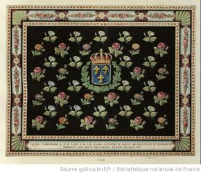 """""""The tapestry was made by Her Majesty Marie Antoinette, Queen of France, and Elizabeth M.me during the last two years of their lives."""""""