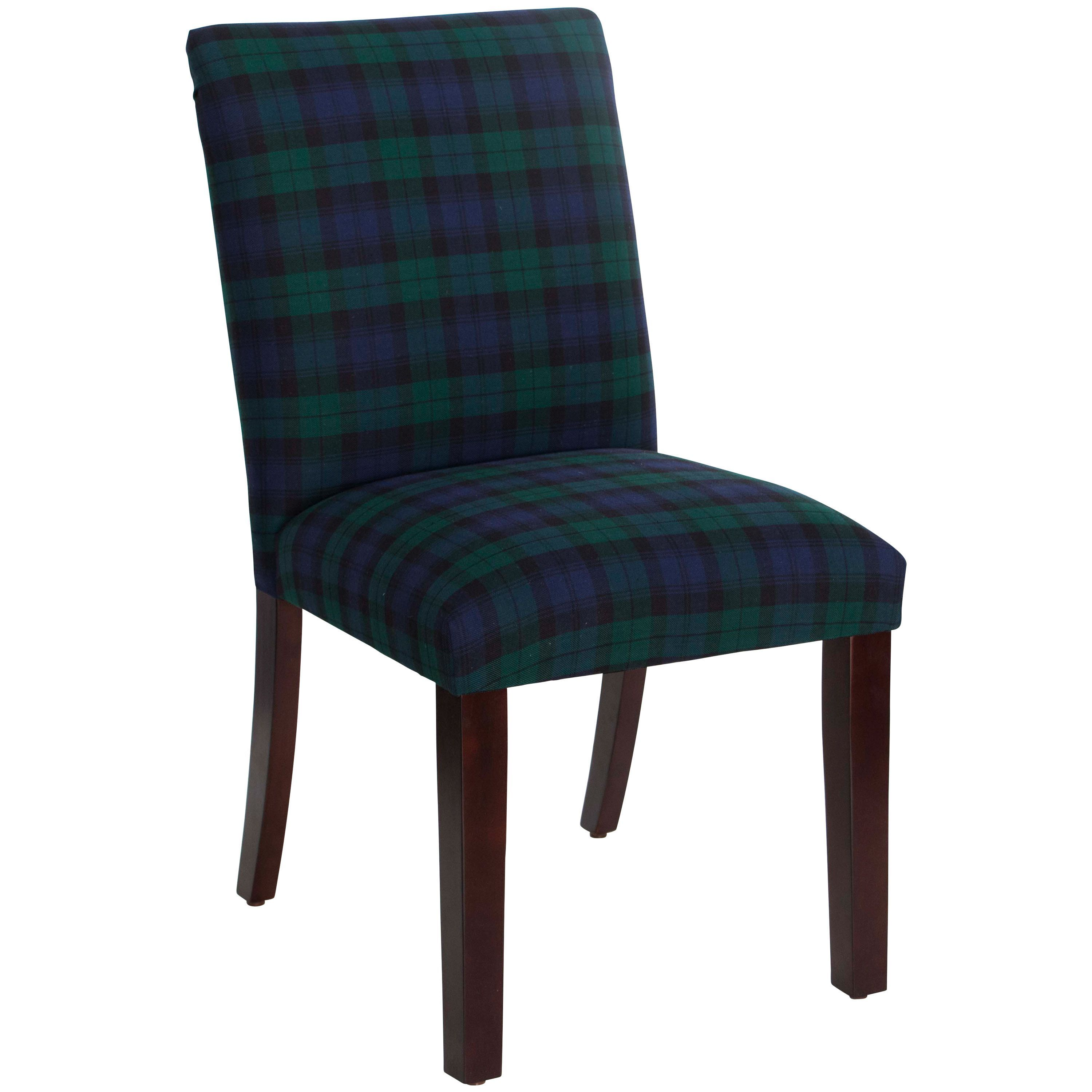 Skyline furniture blackwatch black and green cotton upholstered dining chair blackwatch blackwatch fabric