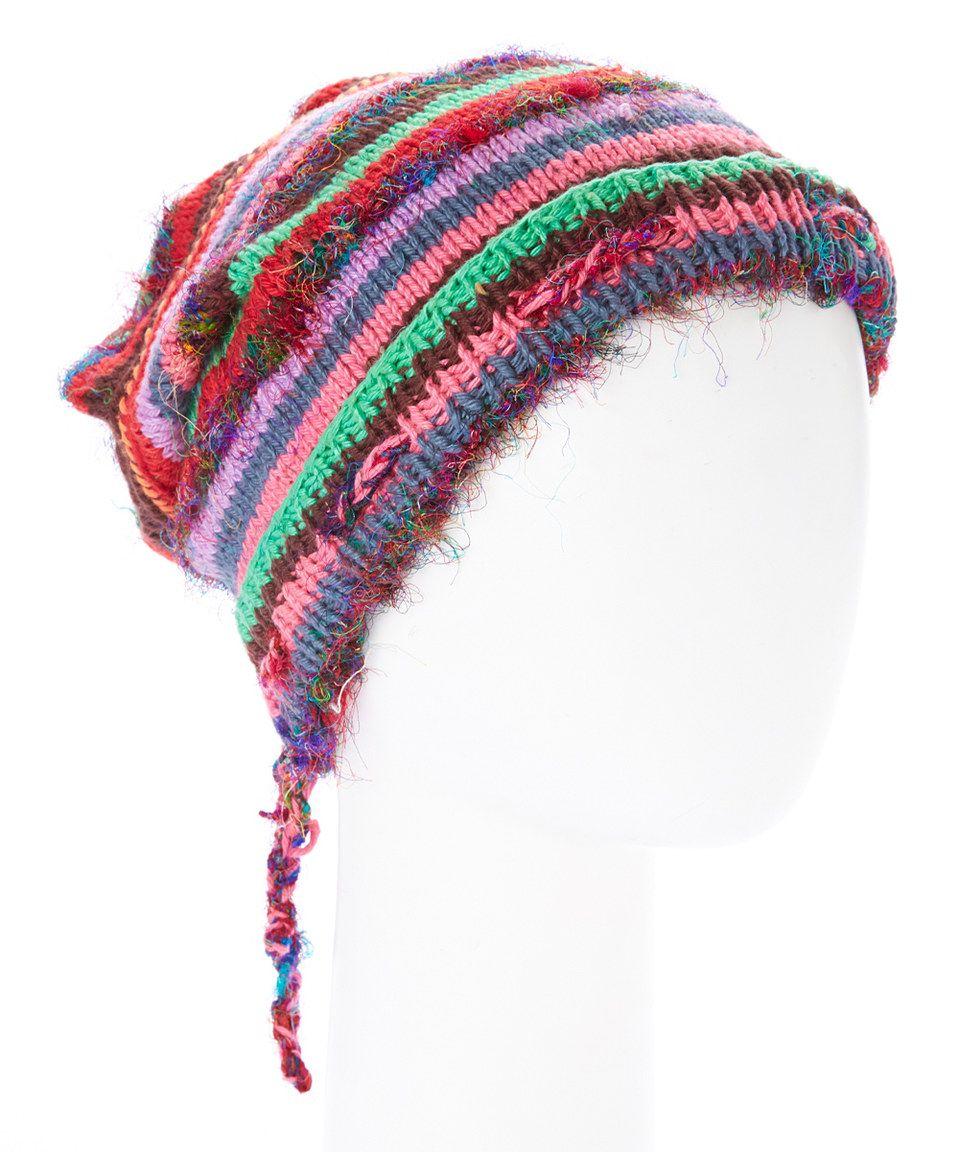 Loving this Pink Stripe Knit Hat on #zulily! #zulilyfinds