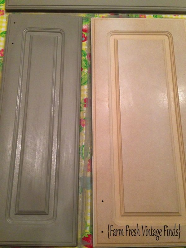 Thermofoil Cabinets In Annie Sloan French Linen Part 2 Thermofoil Cabinets Kitchen Cabinets Parts Farm Fresh Vintage Finds