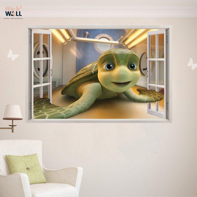 Kids Bedroom 3d Wall Sticker Vinyl Decal Window View A Turtleu0027s Tale:  Sammyu0027s Adventures From