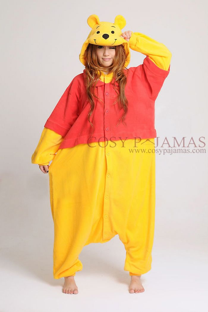 Disney Winnie The Pooh Bear Onesie Kigurumi To go with my slippers! I  always need awesome pjs for Christmas. dcdeb318f