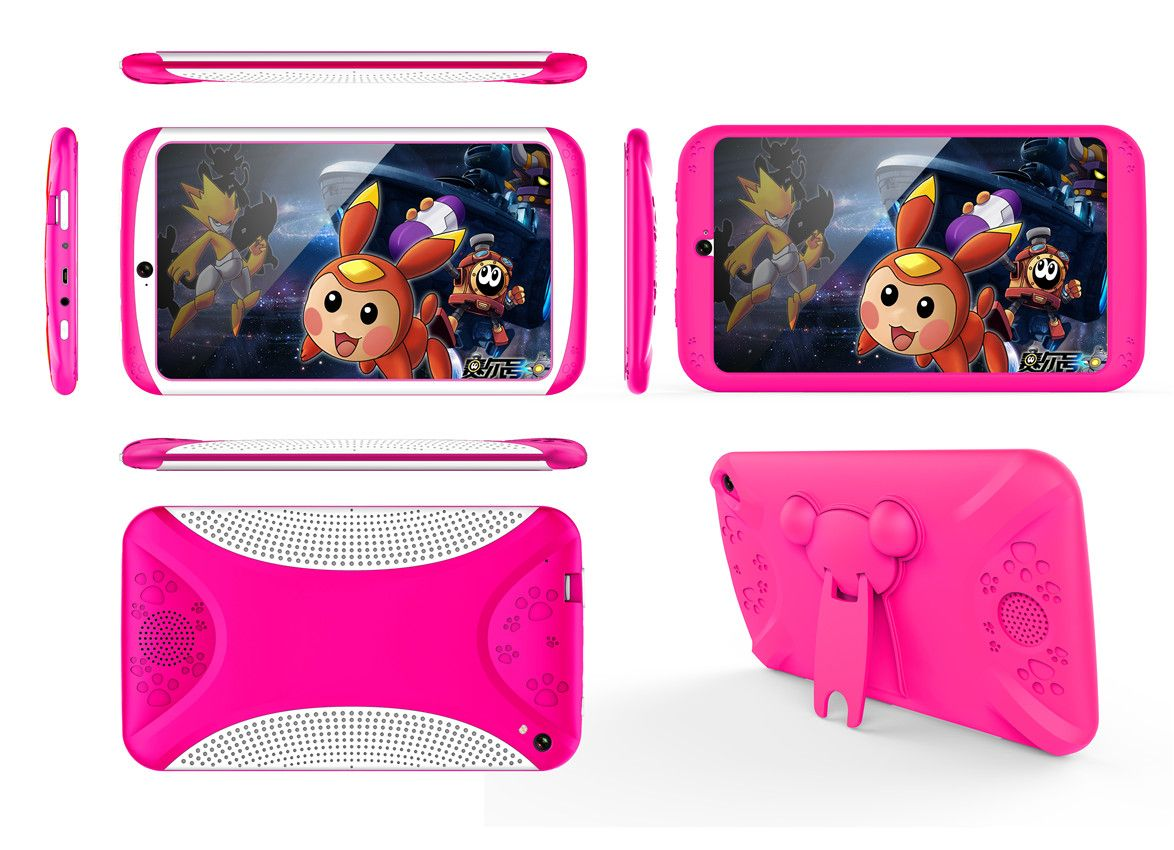 Android Tablet Computer Red For Kids,7 Inch Display, HD