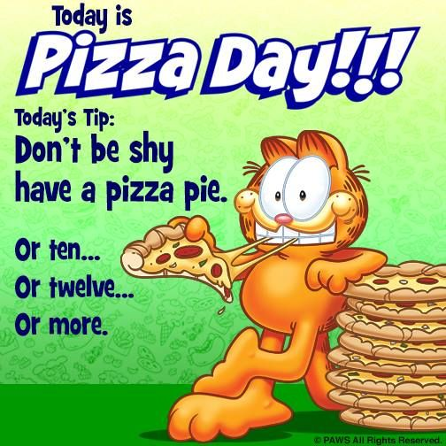 Garfield Timeline Photos Pizza Day National Pizza Garfield And Odie
