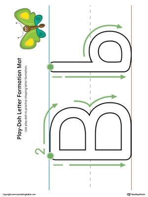 letter formation play doh mat letter b printable color alphabet worksheets lettering. Black Bedroom Furniture Sets. Home Design Ideas