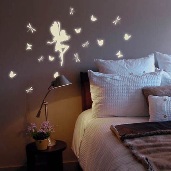 cayleigh.fairy glow in the dark removable wall decals | for the