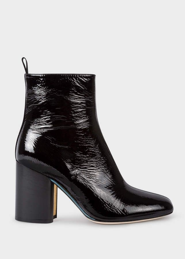 b8f8b487 Paul Smith Women's Black Patent Leather 'Egan' Boots | Products ...
