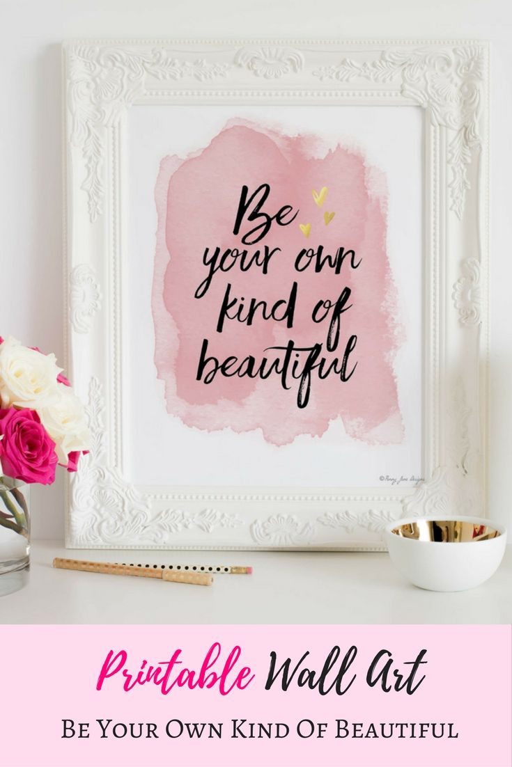 This stunning printable wall art is such an inexpensive way to