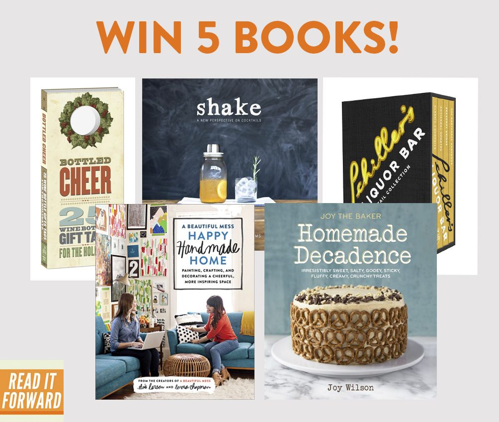 """""""Advent Calendar Day 2: Win 5 Books to Get Ready for the Holidays!""""   Whether it's decorating, baking or cocktailing, these books have all the secrets to make the holidays a lot easier."""