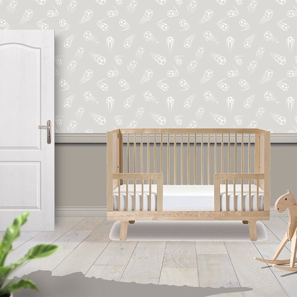 Boys Playroom Removable Wallpaper Gender Neutral Sports Etsy Bedroom Themes Wall Decor Bedroom Removable Wallpaper