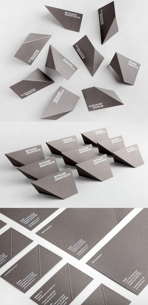 Clever Business Card For An Architect Becomes 3d With Just