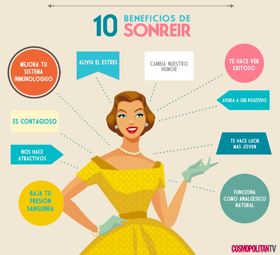 ¡10 beneficios de sonreir! #sonrisa #risa #bienestar