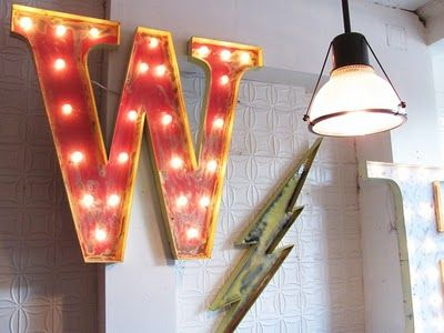 Cool Marquee Letter
