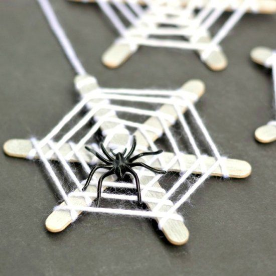 These Craft Stick Spiderwebs Are Easy For Kids To Make And