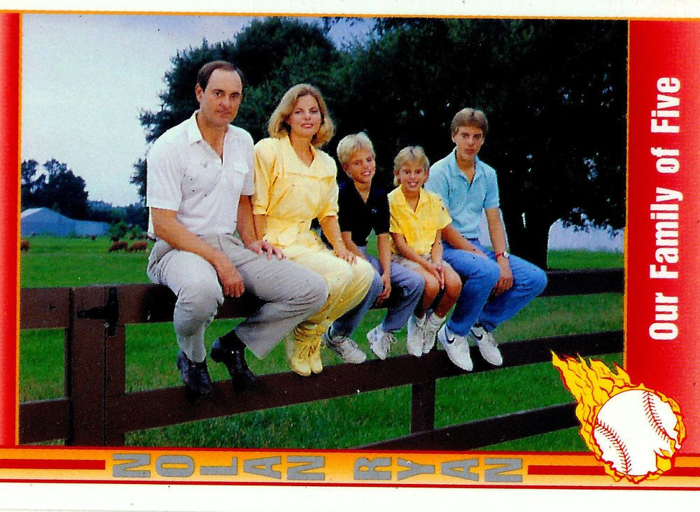 Nolan Ryan Our Family Of Five 1991 Pacific Trading Card 103