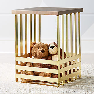 New Kids Clearance Crate and Barrel Gold side table