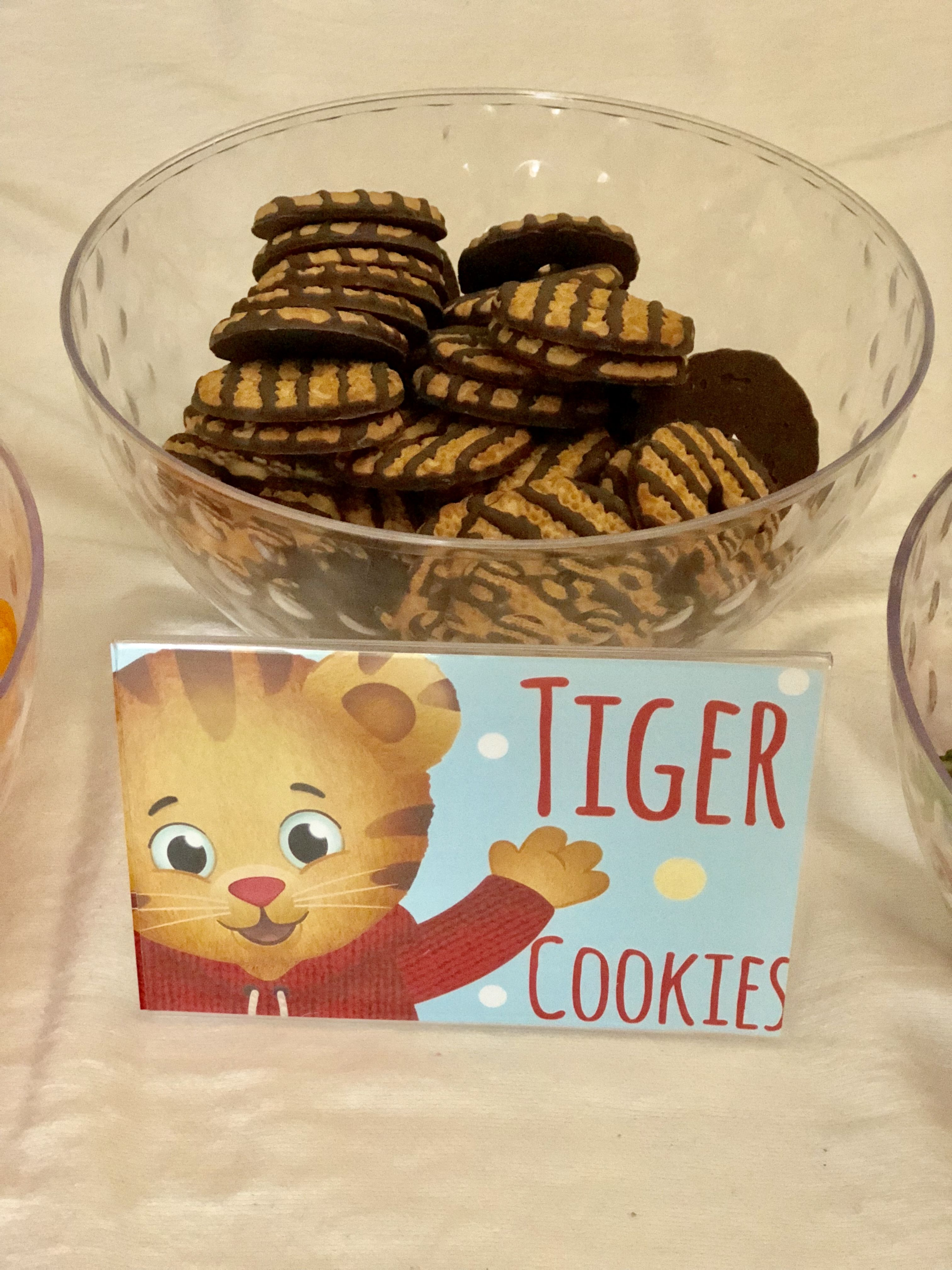 Chocolate Fudge Striped Cookies Called TIGER Daniel Tiger Cake Party