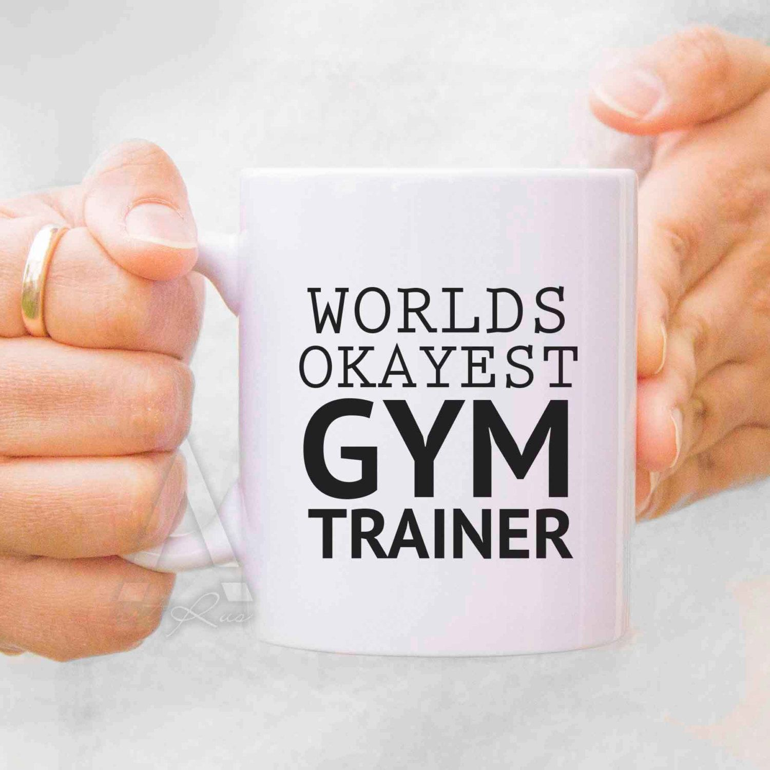 gym teacher gifts fitness gifts mugs for teachers worlds okayest gym trainer coffee mug thank you gift personal trainer gifts mu228 by artruss on