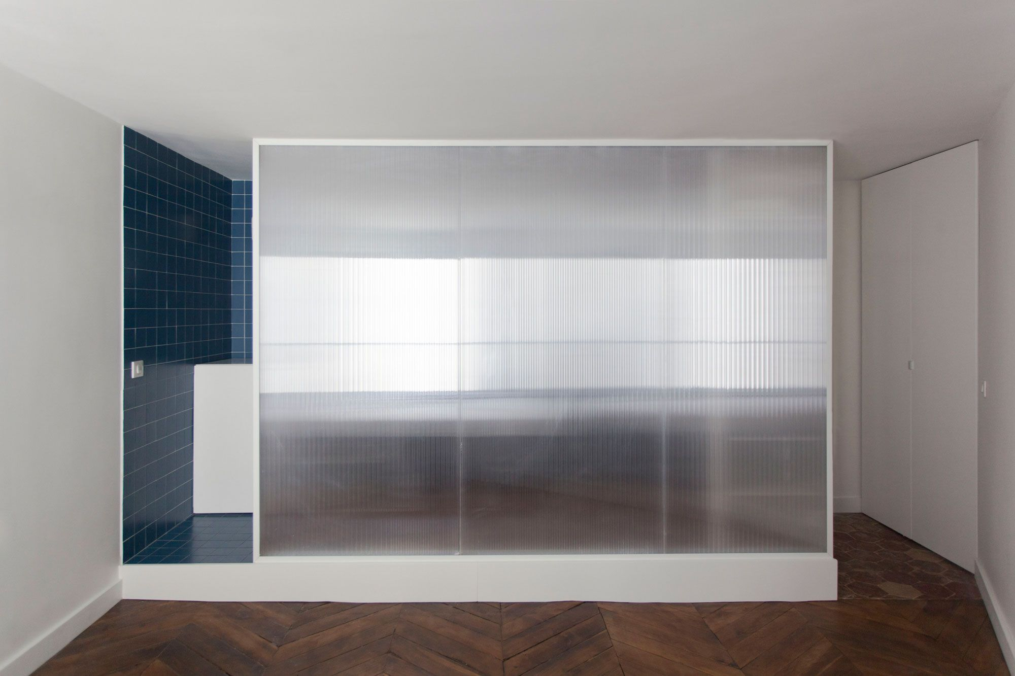 Cloison Amovible Pour Salle De Bain salle de bain, cloison polycarbonate et carreaux de