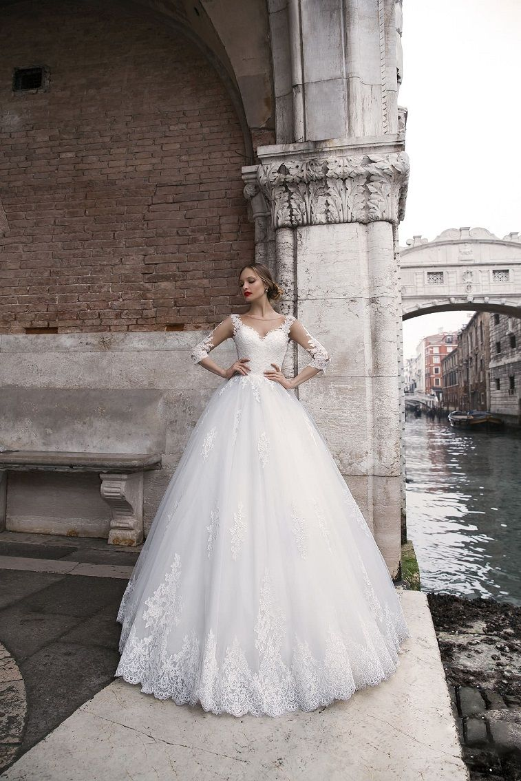 Anna Sposa Wedding Dresses - Venice Bridal Collection Long sleeves heavy embellishment ball gown wedding dress #weddingdress wedding gown ,wedding dress