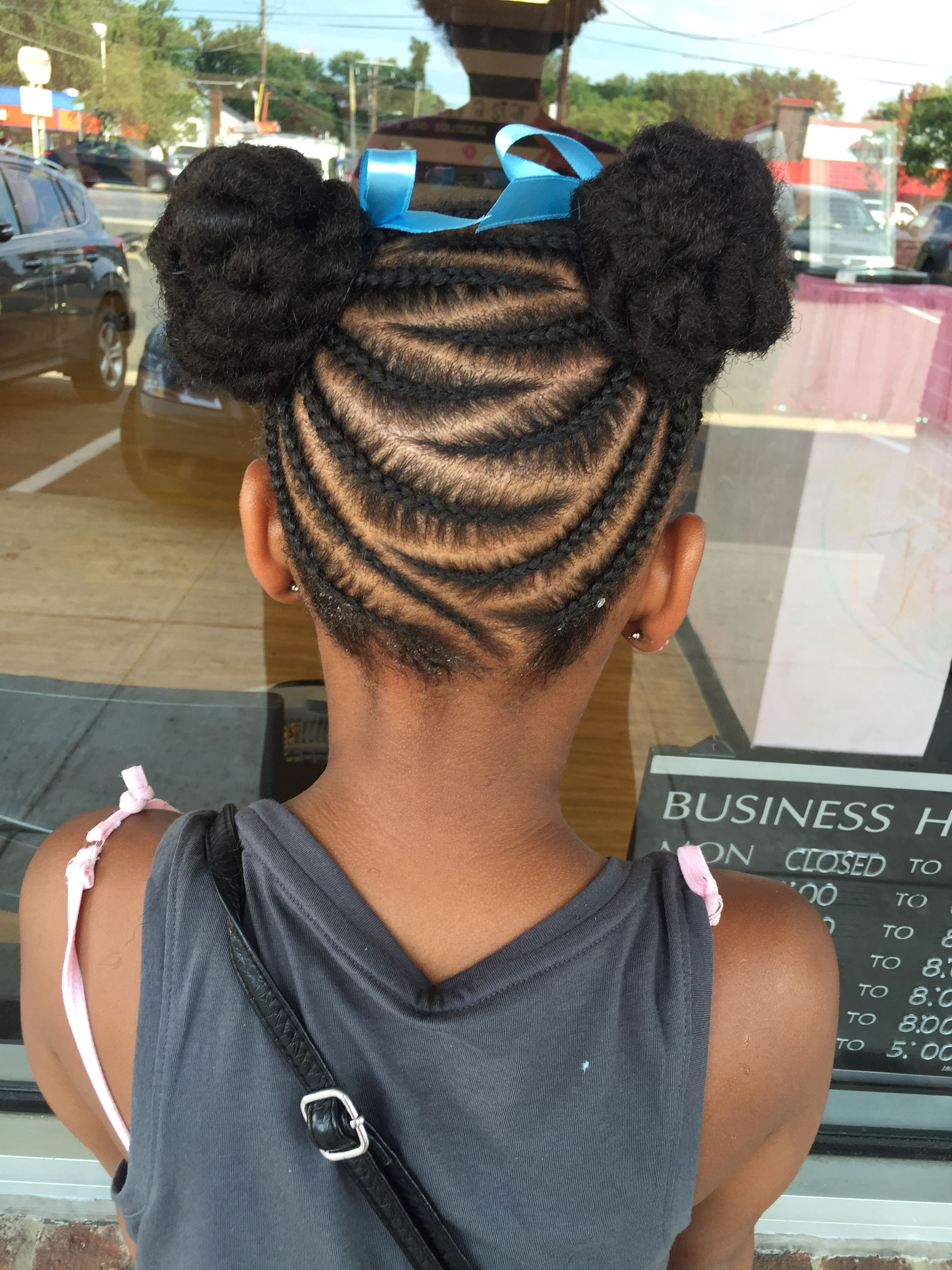 Zig Zag Buns Kids Braided Hairstyles Hair Styles Kids Hairstyles