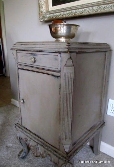 black and grey distressed furniture