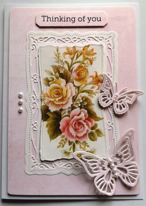 Handmade Greetings Card Thinking Of You Handmade Cards