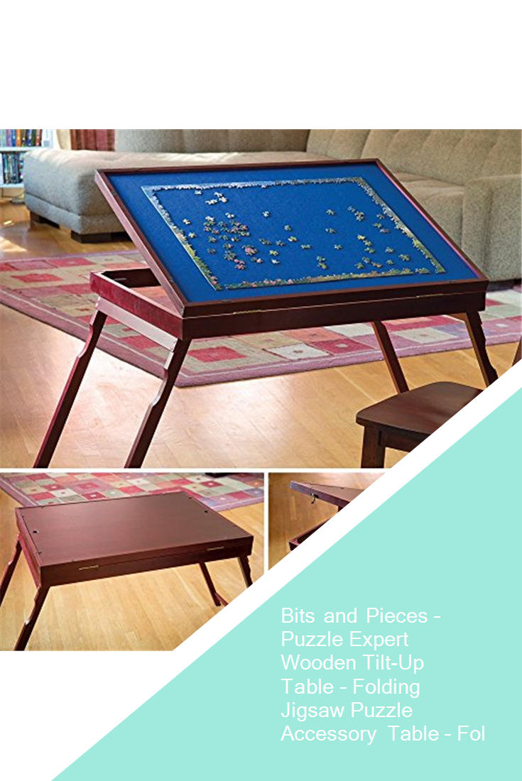 Bits And Pieces Puzzle Expert Wooden Tilt Up Table Folding Jigsaw Puzzle Accessory Table Folds Fo Simple Storage Jigsaw Puzzles Jigsaw Puzzle Accessories