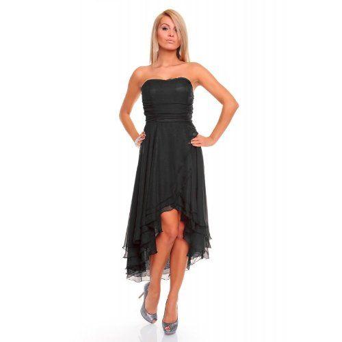 Knielanges Bandeau Kleid Chiffon Ballkleid Abendkleid Cocktailkleid ...