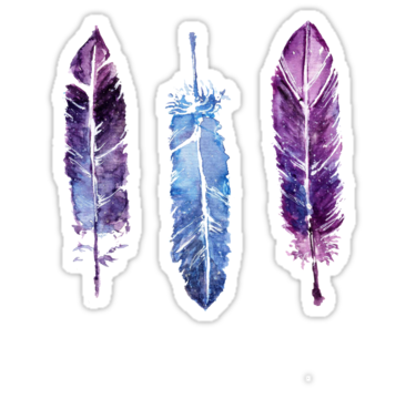 3 colorful feathers • Also buy this artwork on stickers, apparel, phone cases, and more.