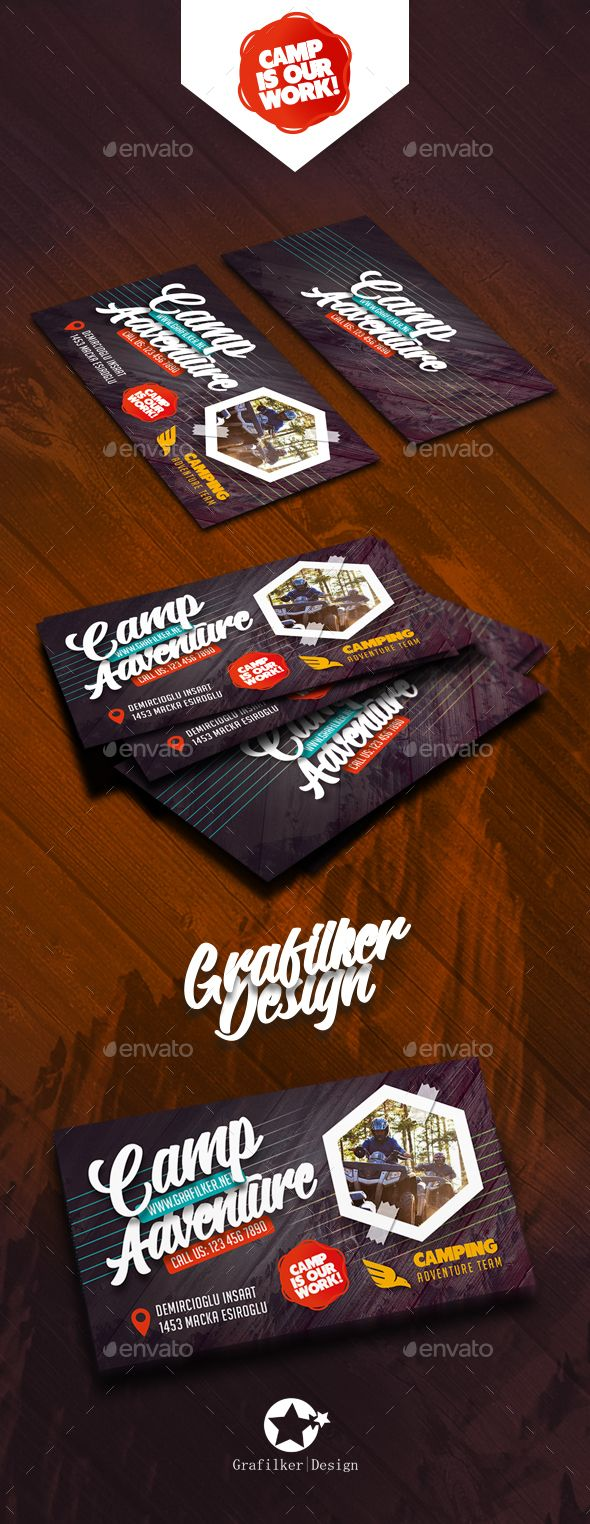 Camping adventure business card templates card templates camping adventure business card templates magicingreecefo Gallery