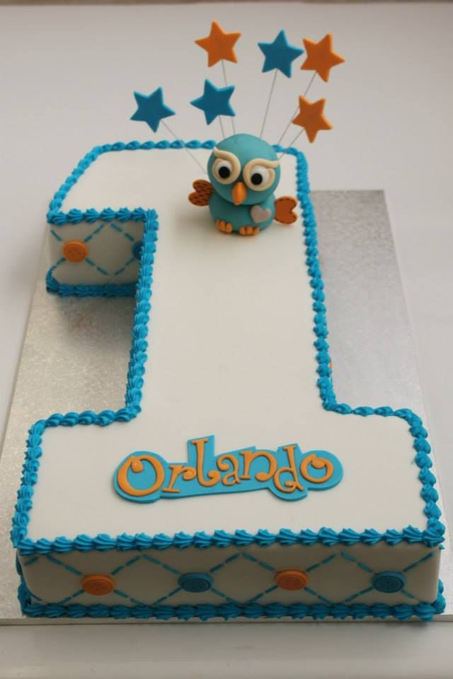 Brilliant Hoot Number One Cake With Images Boy Birthday Cake 1St Personalised Birthday Cards Paralily Jamesorg