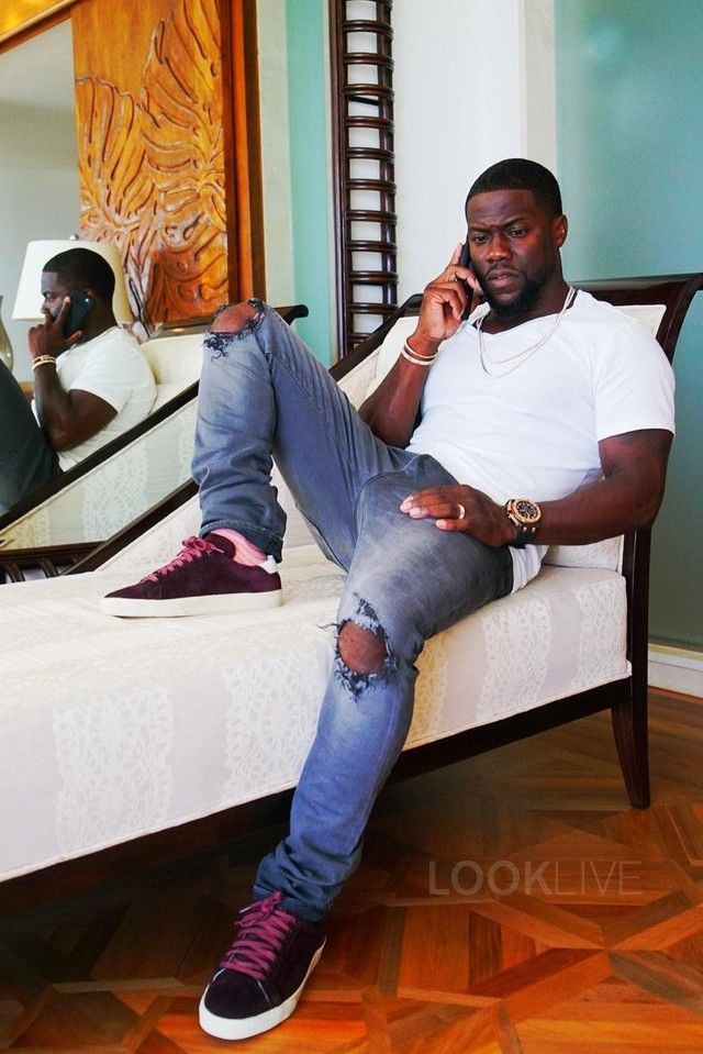 Kevin Hart wearing Saint Laurent Court Classic SL 06 Sneakers 4442d256c