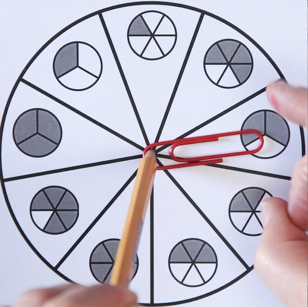 Use These Easy Homemade Spinners To Practice Fractions