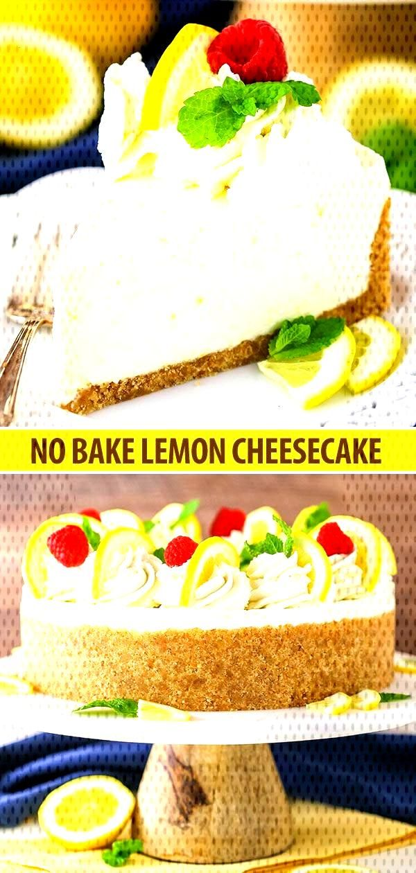 This No Bake Lemon Cheesecake recipe is creamy, tart and easy to make! Its full of lemon flavor an