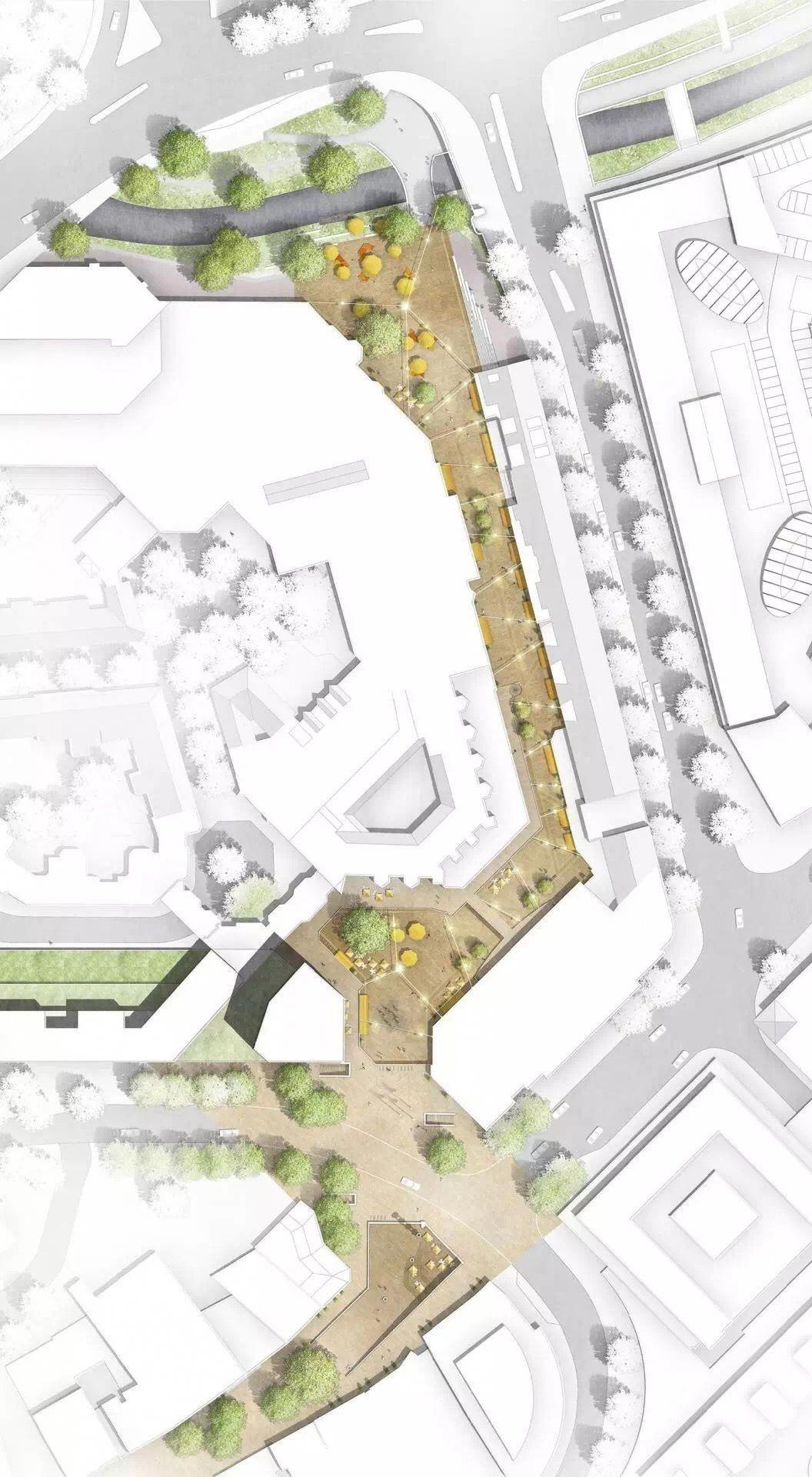 Colored Pedestrian Street Site Plan Landscapearchitectureplan Landscape Design Drawings Architecture Site Plan Landscape Architecture Design