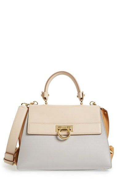 559590d53dd1 Salvatore Ferragamo  Sofia  Colorblock Leather Satchel available at   Nordstrom