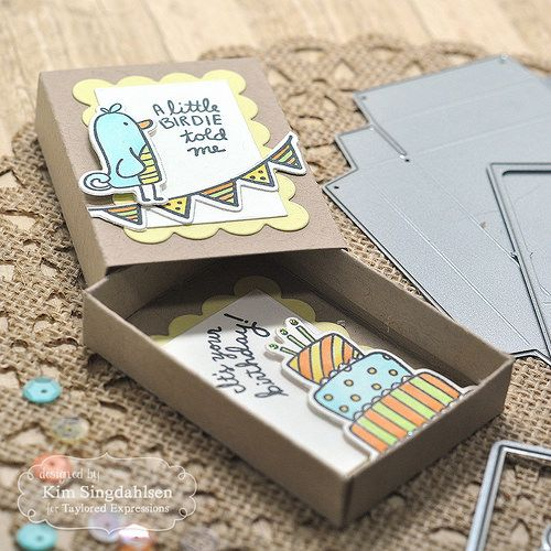 Taylored Expressions Matchbox Birthday Cards Diy Matchbox Crafts Diy Birthday Gifts