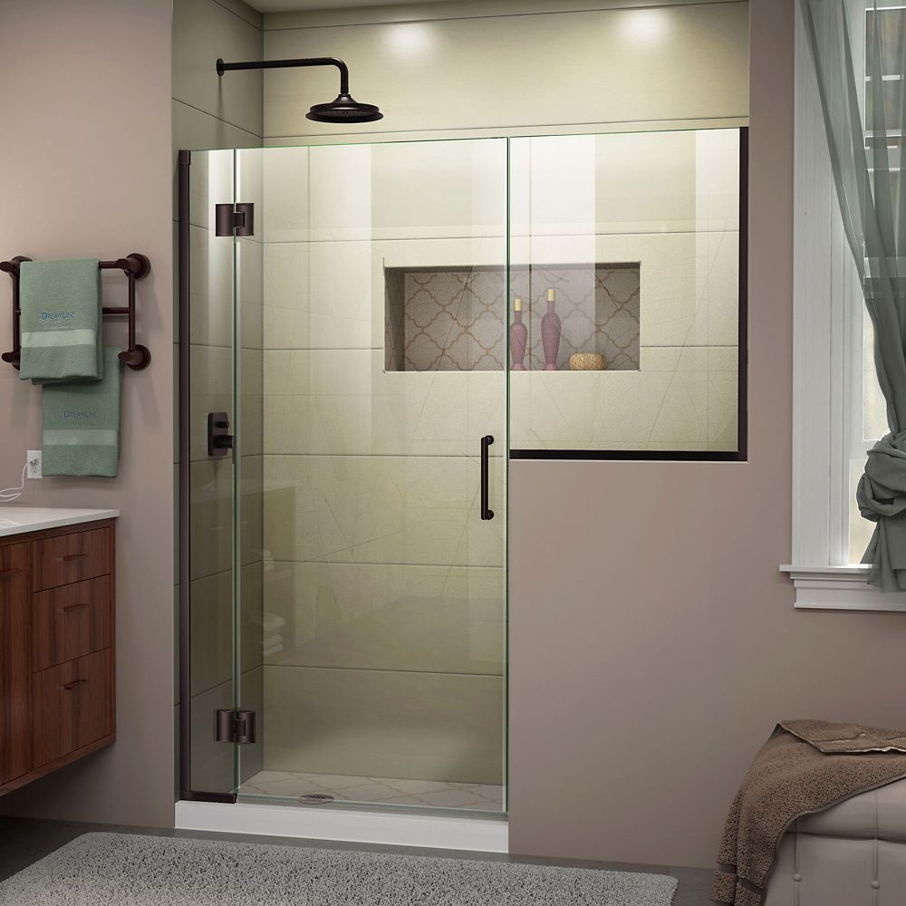 Unidoor X 62 62 1 2 Inch W X 72 Inch H Frameless Hinged Shower