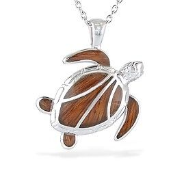 Sterling silver honu pendant with koa wood inlay chain included sterling silver honu pendant with koa wood inlay chain included new from aloadofball Gallery