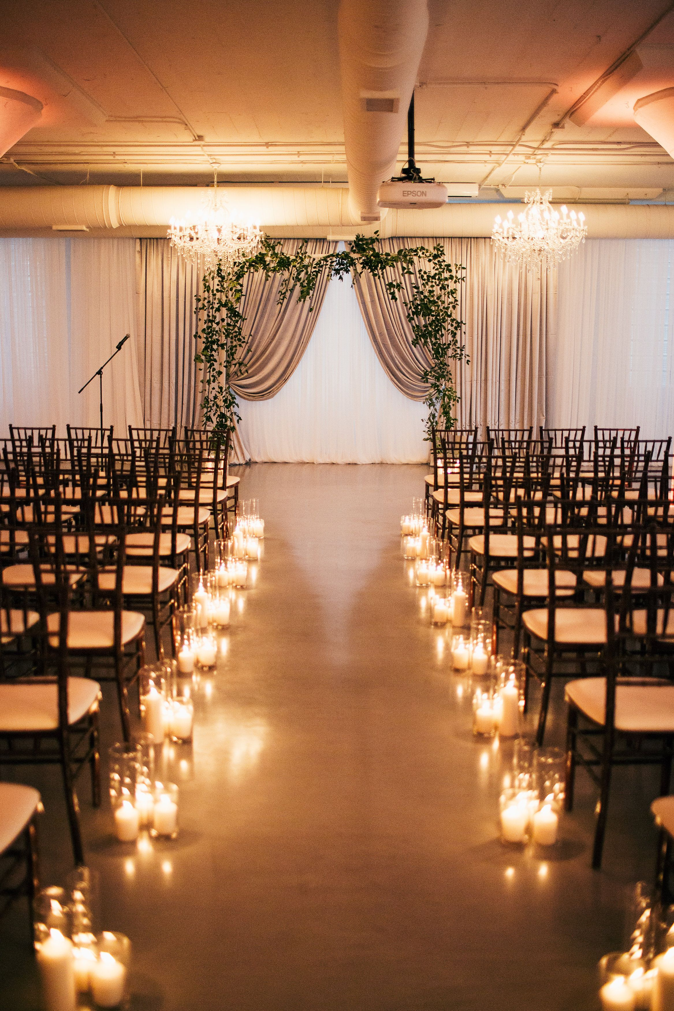 Candles along aisle at room 1520 wedding ceremony chicago vintage candles along aisle at room 1520 wedding ceremony chicago vintage weddings dashwood shop we junglespirit Choice Image
