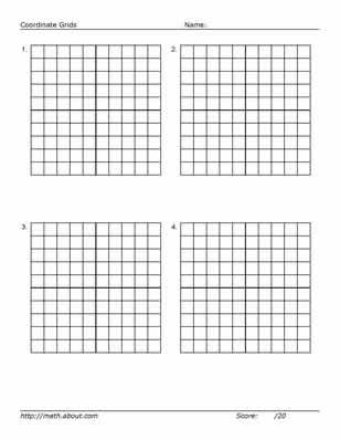Practice Your Graphing With This Printable 20 X 20 Grid: 4 10X10