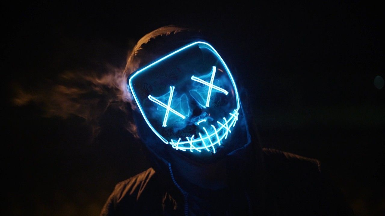 Full Resoloution Marshmello Hd Wallpapers Scary Photos Blue Mask Black Backgrounds