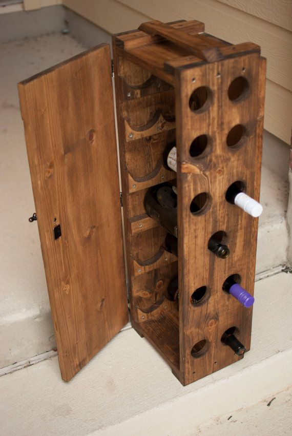 wood wine rack cabinet custom pine vintage style stained merlot cabernet champagne winery grape glass door