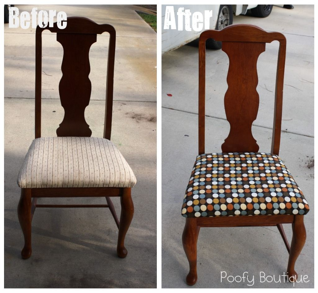 How to Reupholster Chair Seats & How to Reupholster Chair Seats | Home dec | Pinterest