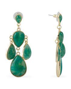 image of Emerald Chandelier Earrings @tjmaxx