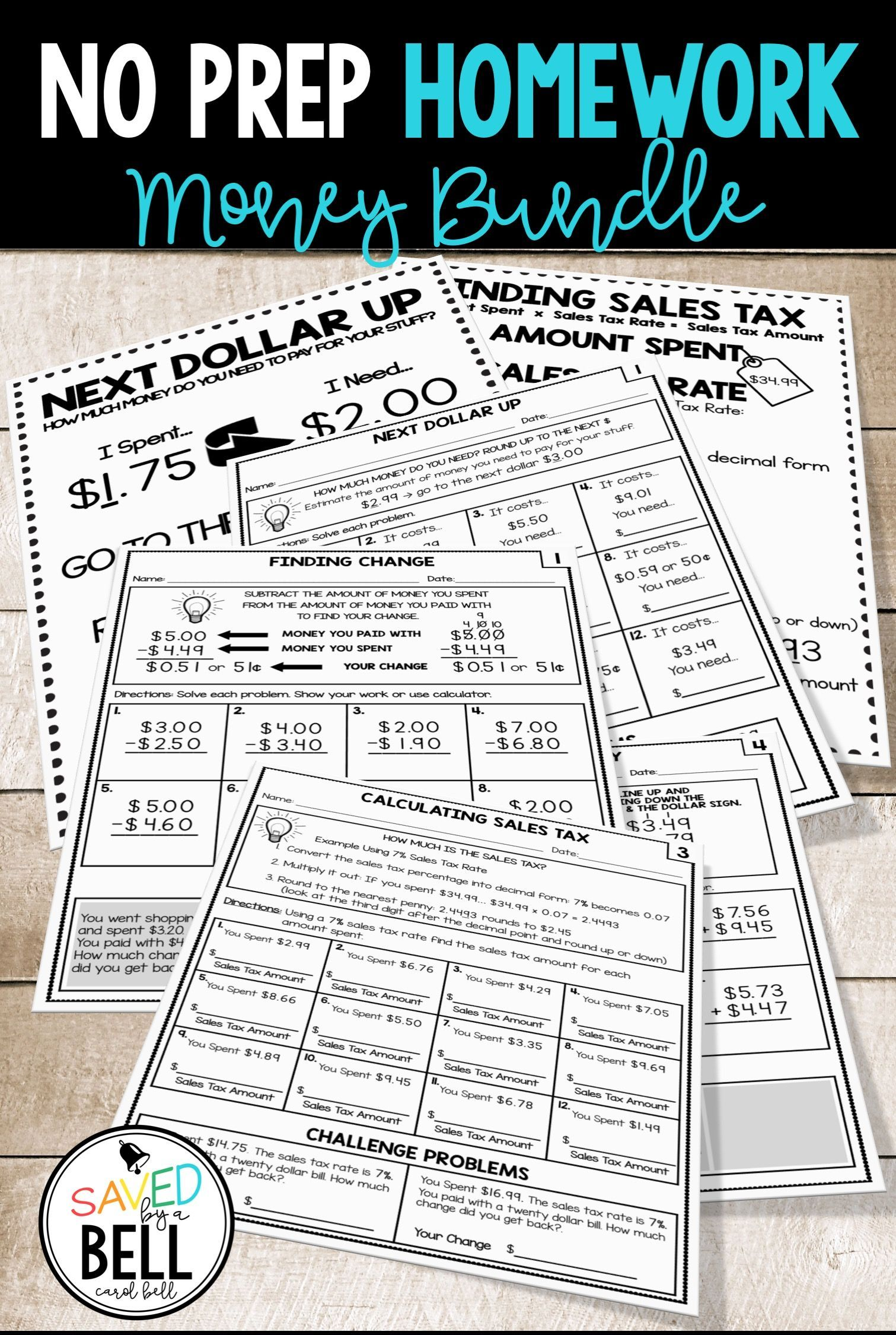 small resolution of These money worksheets are great for homework