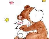 Bear Hug 8x10 Archival Print