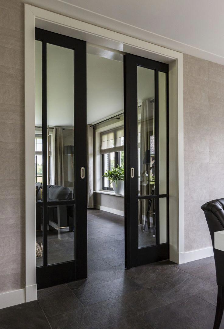 Double sliding doors interior internal wooden sliding